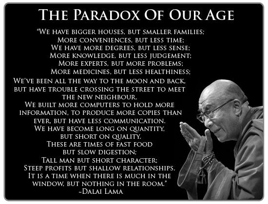Paradox of our Time by Dalai Lama