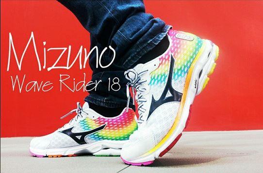 promo code b3371 48067 ... Osaka Marathon Rainbow Women s Running Shoes J1GD150870 Mizuno Wave  Rider 18 (Rainbow Warrior) » Mizuno Wave Rider 18 ...