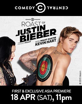 CC Roast of Justin Bieber - First & Exclusive Asia  Premiere